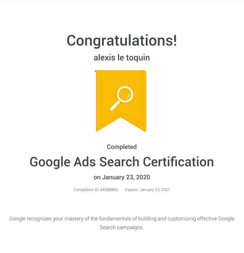 agence certifiée google